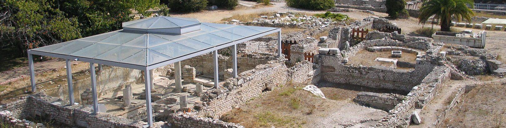 Vue du site archéologique.